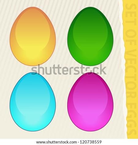 set of vector eggs - stock vector