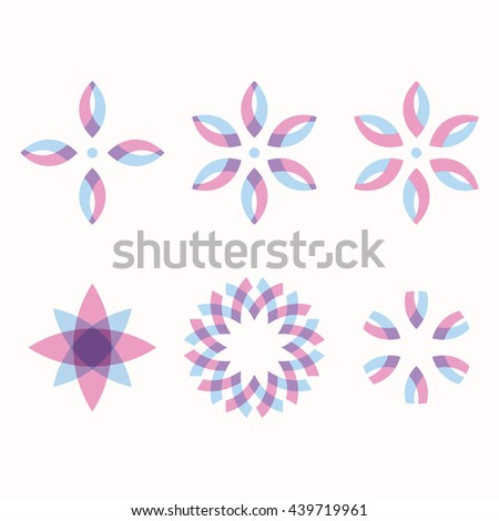 Set of vector elements to design hang tags, labels, EPS 10 file - stock vector