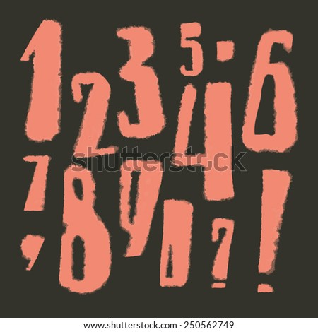 Set of vector figures. Hand drawn. May be used on different font color. - stock vector