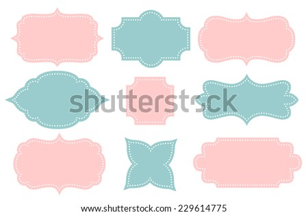 Set of vector frames - stock vector