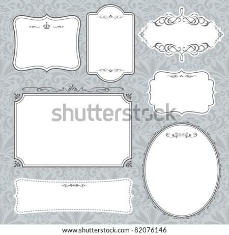 Set of vector frames - stock vector