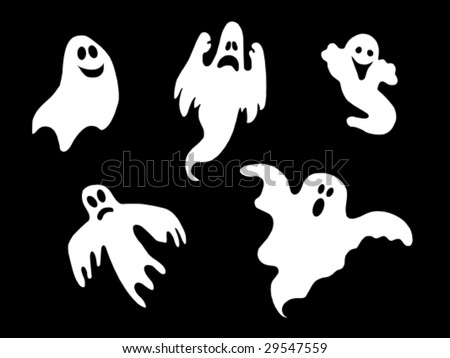 set of vector ghost symbols - stock vector