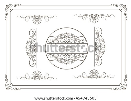 Set of vector graphic elements for design on white background - stock vector