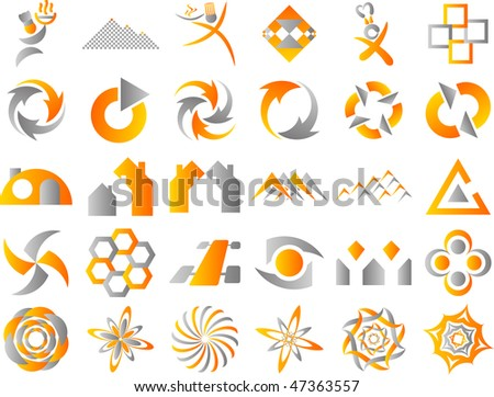 Set of 24 Vector Icon Design Elements - stock vector