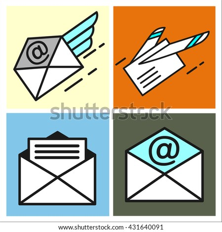 Letter Email Mail Airmail Icon Stock Illustration