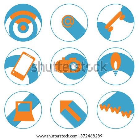 set of vector icons internet and high-tech communication/Icons high technology - stock vector
