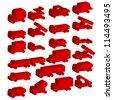 Set of vector icons - transportation symbols. Vector illustration. - stock vector