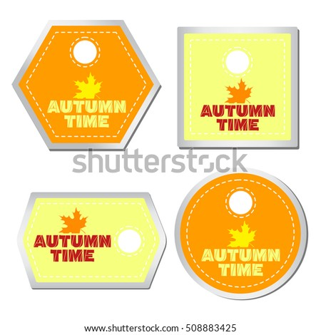 Set of vector labels. Autumn time