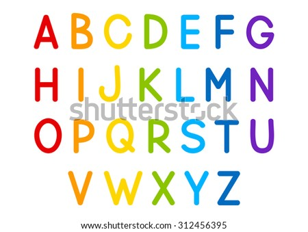 Set of vector letters for Your design