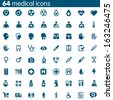 Set of 64 vector medical icons - stock