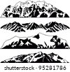 Set of Vector Mountains Emblem - stock vector