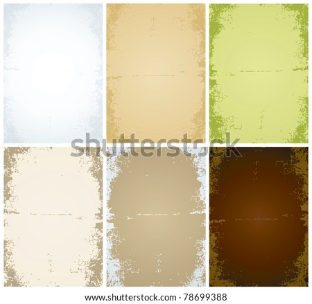 Set of vector of old sheets of paper - stock vector