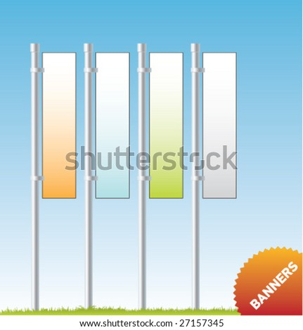 Set of vector outdoor advertising [Banners] - stock vector
