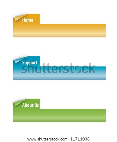 Set of Vector Page Curl Tabs Perfect for Web Tabs