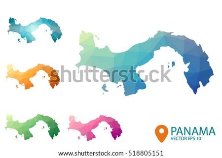Panama Map Stock Images RoyaltyFree Images Vectors Shutterstock - Panama map vector