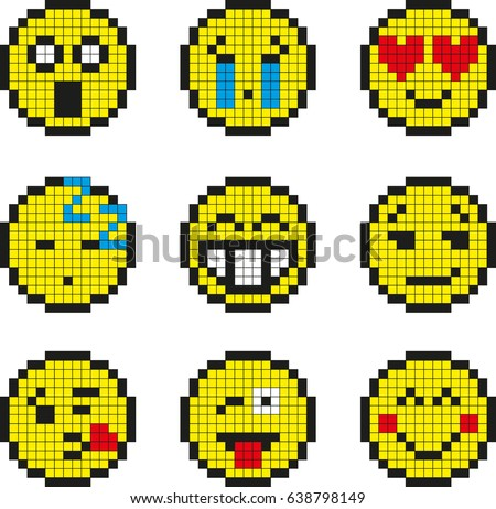 Dessin Pixel Smiley Facile