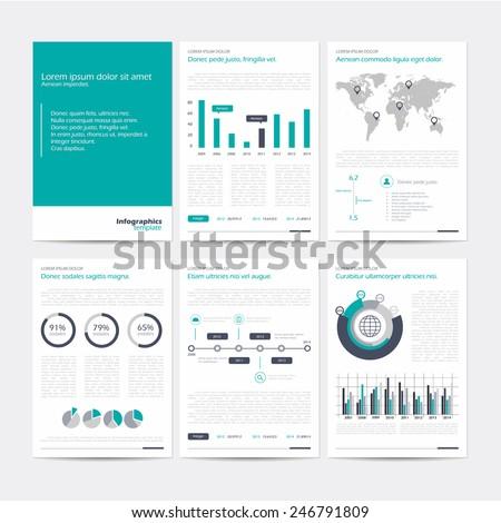 Infographic Flyer Brochure Elements Business Data Stock Vector ...