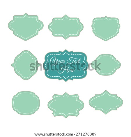 Set of vector retro frames and vintage labels. Elements for design. - stock vector