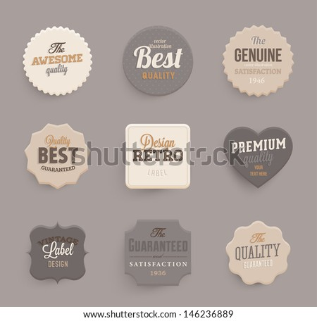 Set of vector retro ribbons, banners and vintage emblems. Elements vector collection for vintage design. - stock vector