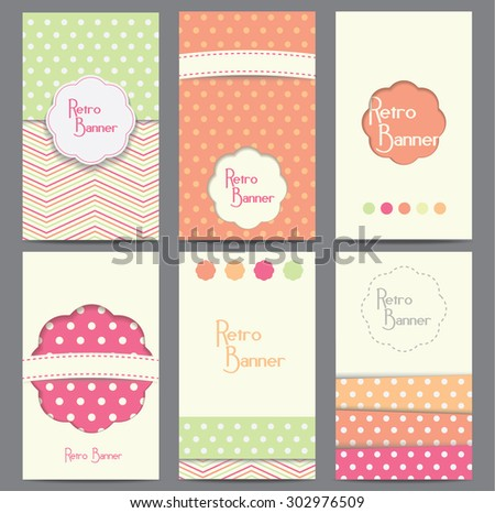 Set of vector retro style backgrounds - stock vector