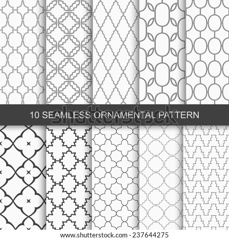 Set of vector seamless ornamental patterns - stock vector
