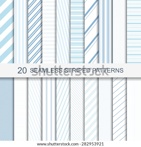 Set of vector seamless striped patterns - stock vector