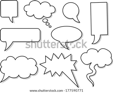 Set of vector speech bubbles  - stock vector