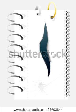 set of vector spiral binders. Duplicate ring for lengthening - stock vector