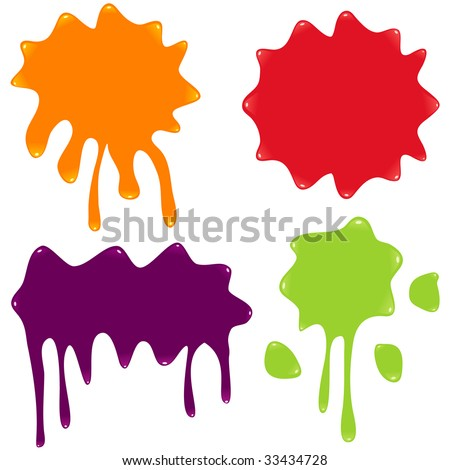 Set of Vector Splatter. Vector illustration. - stock vector