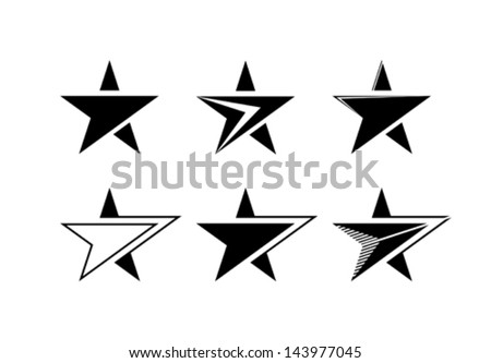 Set of vector stars - stock vector
