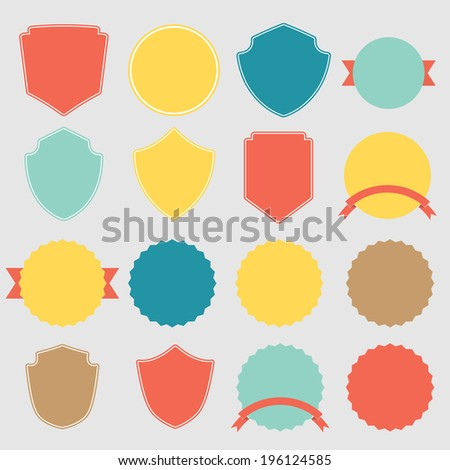 Set of vector stickers  - stock vector