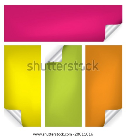Set of vector stickers #2 - stock vector