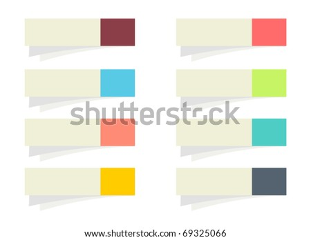 Set of vector stickers for your text - stock vector