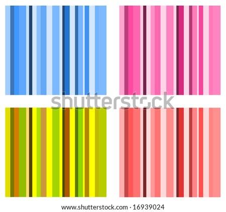 set of vector stripe schemes - stock vector