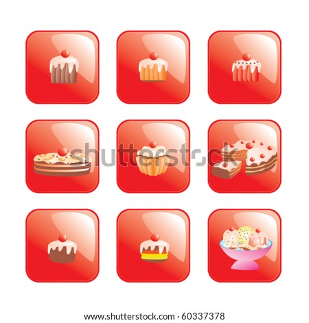 Set of vector sweets - stock vector