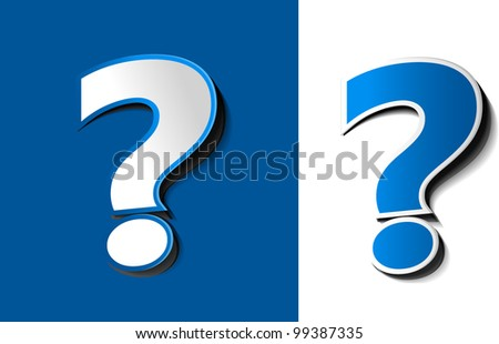set of vector symbol of question mark design. - stock vector