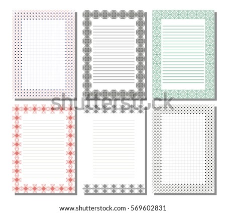 Set Vector Template Letter Card Charter Stock Vector 569602831 ...