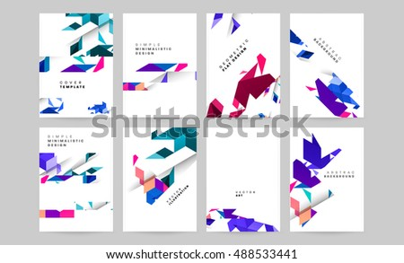 Set vector templates business covers posters stock photo photo set of vector templates for business covers posters flyers front pages brochures cheaphphosting Image collections
