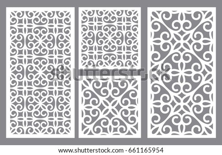 Set Vector Templates Laser Paper Cutting Stock Vector 661165954 ...