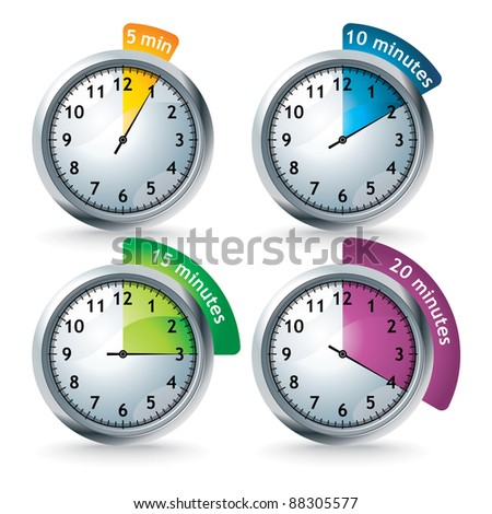 set of vector timers - stock vector