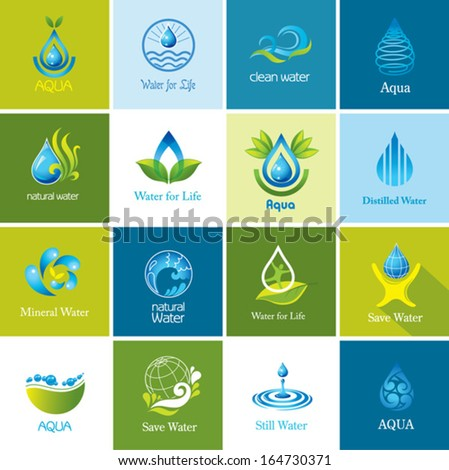 Set of vector Water icons 2. - stock vector