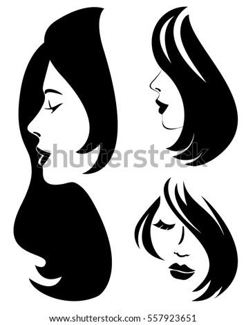 Hair Silhouette Stock ...