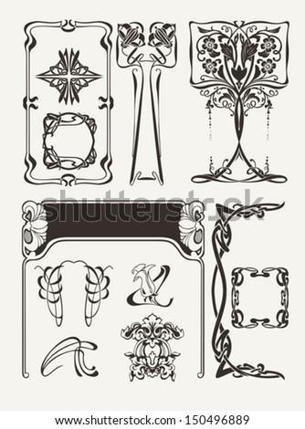 Set Of Vintage? Art Deco Design Elements - stock vector
