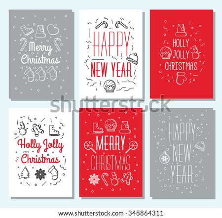 Set 6 vintage cute christmas cards stock vector 348864311 shutterstock set of 6 vintage cute christmas cards with calligraphy and winter holiday elements greeting hand m4hsunfo