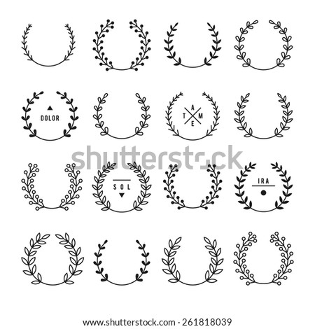 Set of vintage design elements. - stock vector