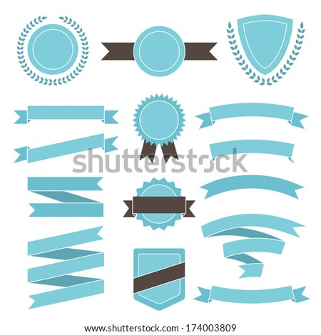 Set of vintage elements for your design. - stock vector