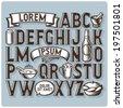 Set of vintage font and design elements - stock vector