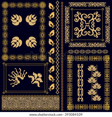 Svetlana kononova 39 s ethnic patterns set on shutterstock for Deco baroque