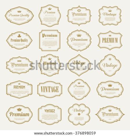 Set of vintage gold  frame . Illustration eps10 - stock vector