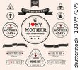 Set of vintage Happy Mothers Day - EPS10 Compatibility Required - stock vector